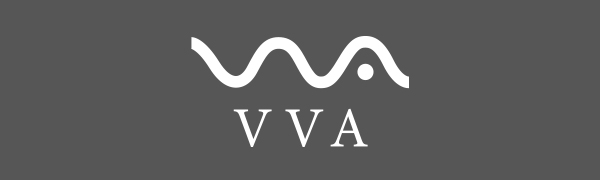 VVA logo shower curtain