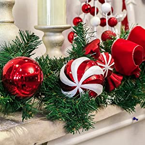 Sweet Candy Red White Christmas Wreath