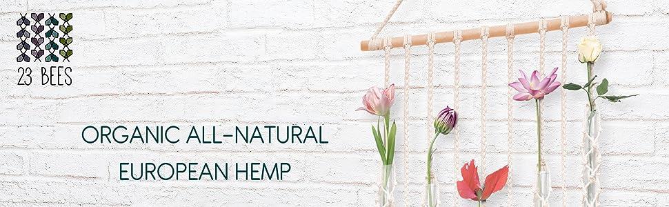 23 Bees Organic Hemp Cord