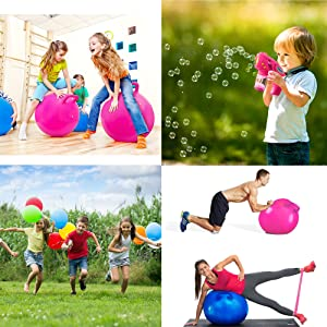 Hopper balls bubbles party balloons yoga equipment