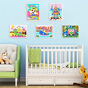 mosaic sticker wall decoration decor room home decrative nursery classroom preschool kindergarten