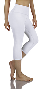 Tummy Control Yoga Capris Leggings with Hidden Pocket