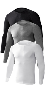 Men's 3 Pack Athletic Compression Shirts
