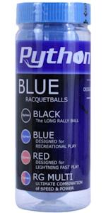 Python Blue Racquetballs