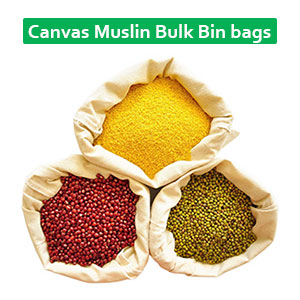 Canvas Muslin Bulk Bin bags