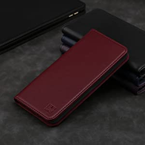 Google Pixel 3A 'Classic Series' real leather wallet case cover available in Burgundy