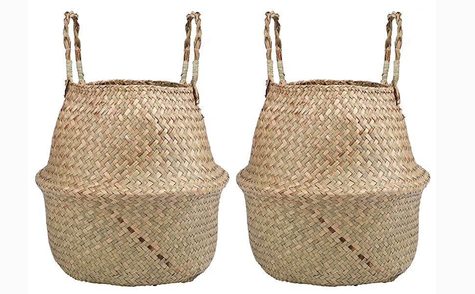 Woven Seagrass Plant Basket