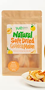 soft dried golden melon natural golden melon organic fruits natural fruit