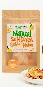 soft dried golden melon natural golden melon organic fruits natural fruit
