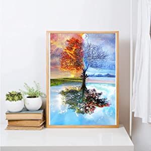 tree diamond painting
