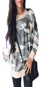 Women Camo Printed Sweatshirt