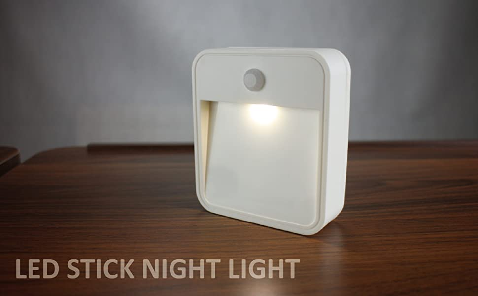 Sleep Friendly Wireless Battery Powered Motion Sensor LED Night Light Stick Anywhere