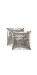 silver throw cushion cover silk decorative pillow for bed silver decorative accents shiney bed cover