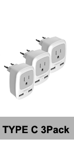 European plug adapter