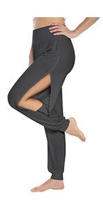 Fitglam Women's High Slit Yoga Lounge Beach Pants