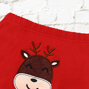 itkidboy Christmas Baby Boy Clothes Merry Christmas Romper+Sheep Head Pants + Hat 3PCS Set