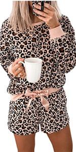 Leopard Pajamas Set