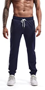 Men's Tapered Athletic Running Pants Joggers Workout Training Sweatpants with Pockets