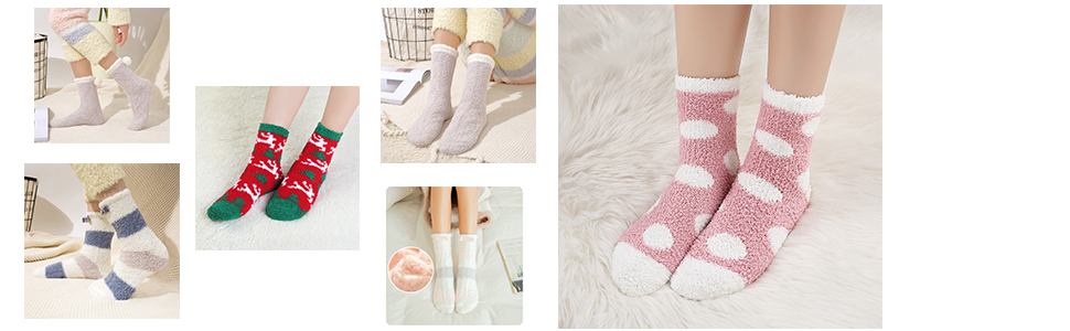 fluffy socks for women