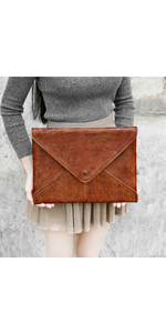 Tophome Laptop Sleeve, Leather Bag, Sleeve Cases, Leather Envelope