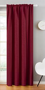 burgundy blackout curtains