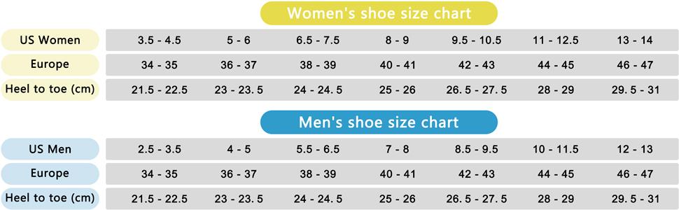 seekway size chart