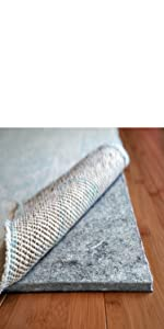 cushioned non slip rug pad
