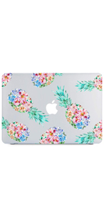 Pineapple Flowers Clear Case for MacBook Air 13 Inch