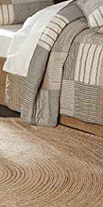 vhc brands, farmhouse, home decor, april and olive, harlow, jute, rug