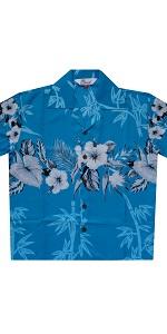 Bamboo Print Hawaiian Shirt for Boys
