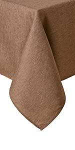 brown tablecloth, dark brown tablecloth, best tablecloths, brown cloths