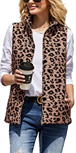 Leopard Quilted Padded Vest