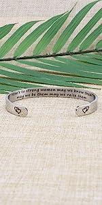 Strong women bracelet