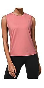 Pink Sleeveless Shirts for women