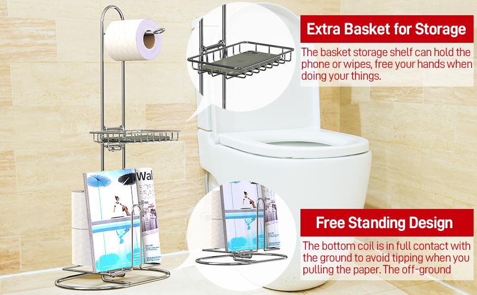 toilet paper holder rack