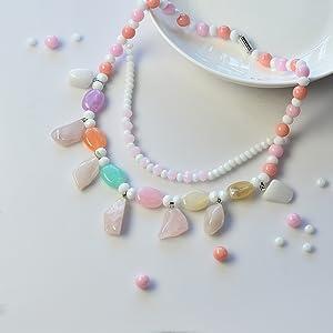 Oval Imitation Gemstone Acrylic Beads