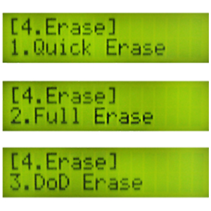 systor usb 3.1 erase mode - quick full DoD USA department of defense that wipe data content