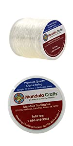 Mandala Crafts Crystal String Elastic Cord Stretchy String for Bracelet Necklace Jewelry Making
