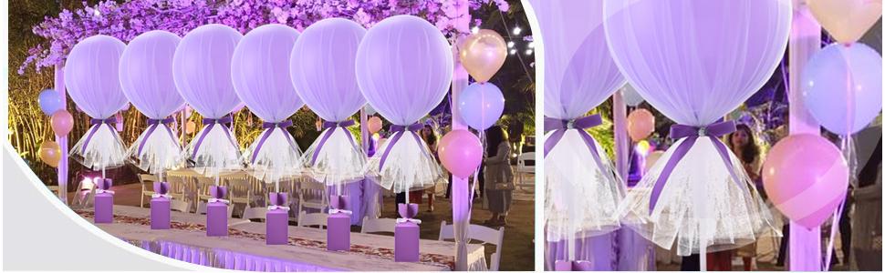 tutu tulle balloons