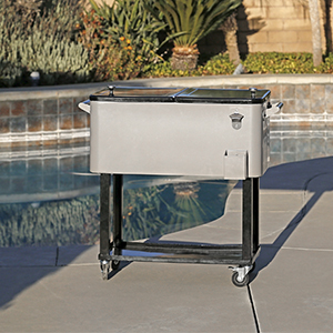 Clevr rolling patio party cooler