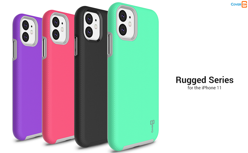 "apple iphone 11 6.1"" 2019 dual layer protective hard plastic hybrid phone cover case"