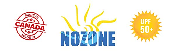 nozone logo upf 50 made in canada