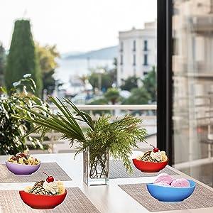 e Porcelain Bowls - 26 Ounce for Cereal, Soup, Salad and Fruit, Set of 6, dessert bowls