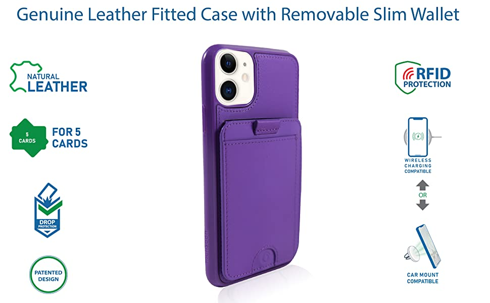 iphone 11 wallet case leather folio women men detachable magnetic stand car mount vena silk cards xi