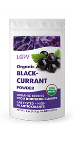 Organic wild blackcurrant powder