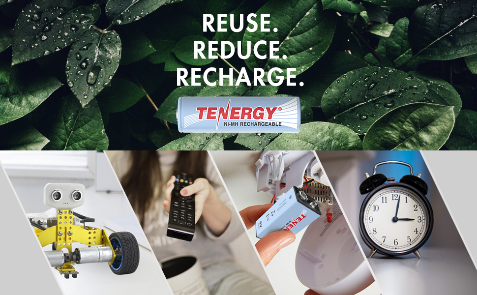 Reuse reduce recharge and save money with rechargeable batteries