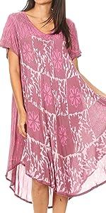 swing dress A-line sundress beach cover-up tank dress boho summer short sleeves  casual midi  maxi