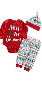 Babys 1st Christmas Outfits