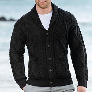 Cable Knitted Cardigan Sweater