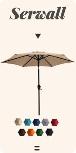 7.5ft metal patio umbrella